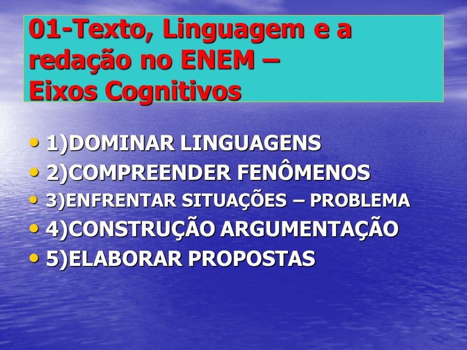 01-Texto, Linguagem e a redação no ENEM – Eixos Cognitivos