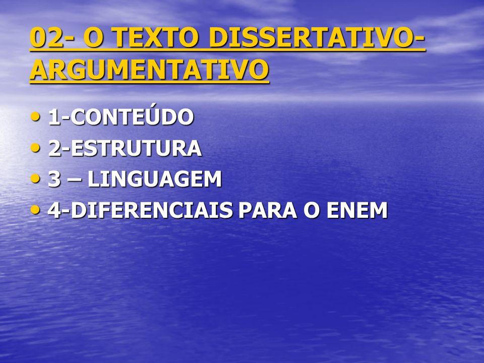 02- O TEXTO DISSERTATIVO-ARGUMENTATIVO