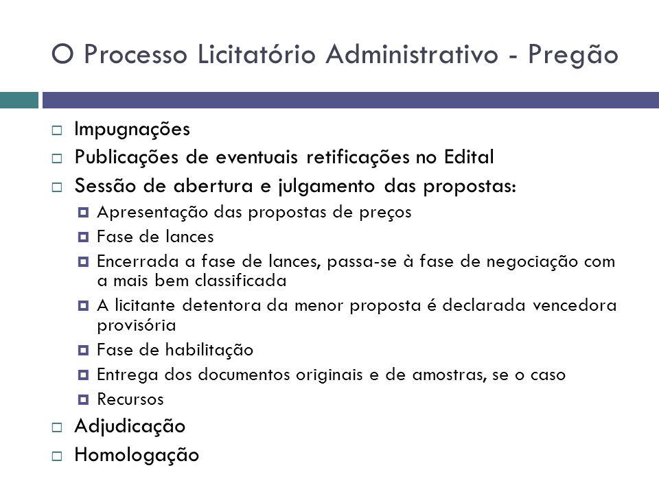 O Processo Licitatório Administrativo - Pregão