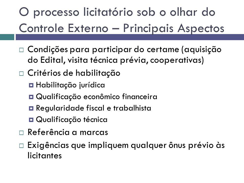 O processo licitatório sob o olhar do Controle Externo – Principais Aspectos