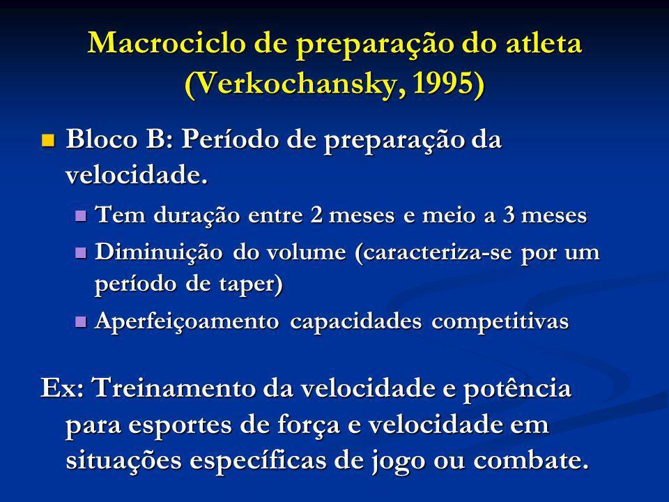 Macrociclo de preparação do atleta (Verkochansky, 1995)
