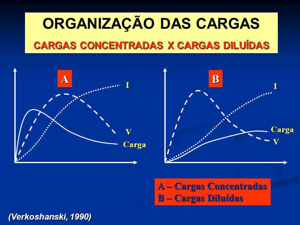 ORGANIZAÇÃO DAS CARGAS CARGAS CONCENTRADAS X CARGAS DILUÍDAS