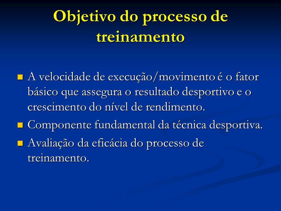 Objetivo do processo de treinamento