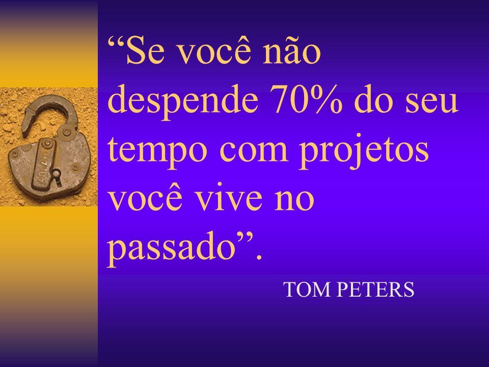 Se você não despende 70% do seu tempo com projetos você vive no passado .