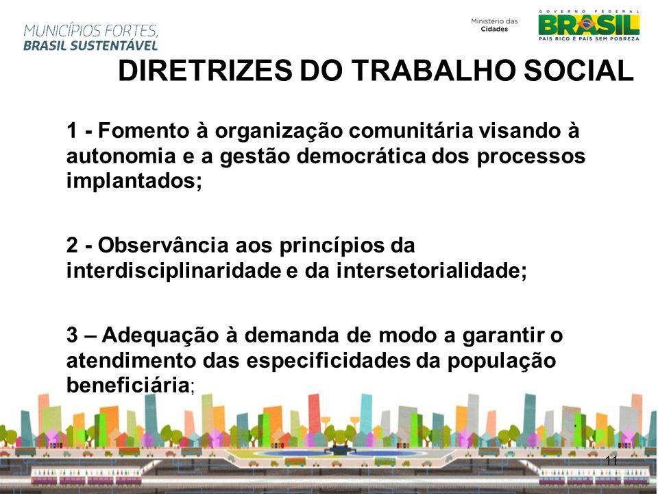 DIRETRIZES DO TRABALHO SOCIAL