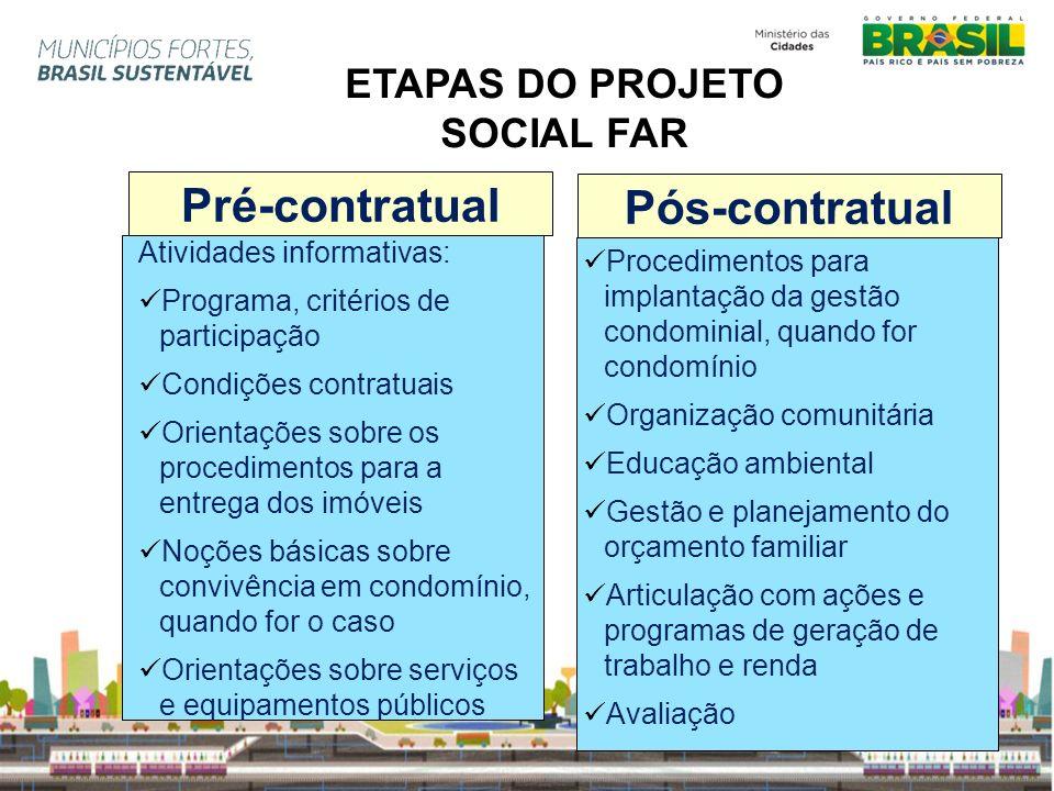 ETAPAS DO PROJETO SOCIAL FAR