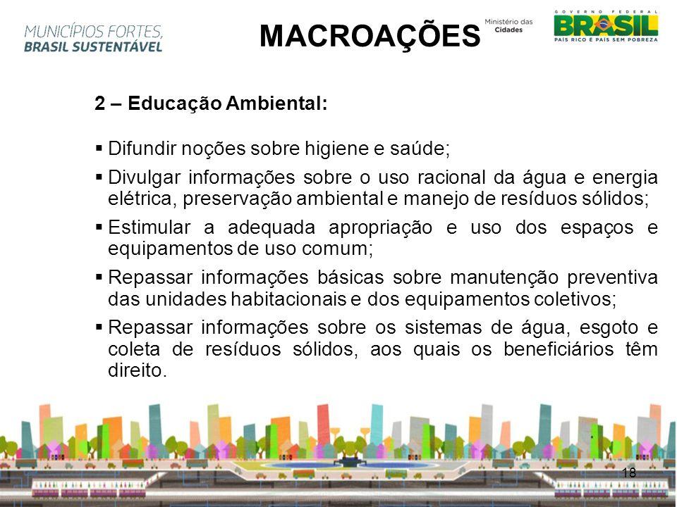 MACROAÇÕES 2 – Educação Ambiental:
