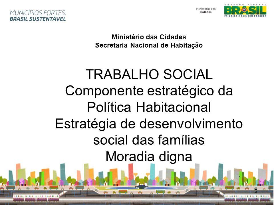 Ministério das Cidades Secretaria Nacional de Habitação