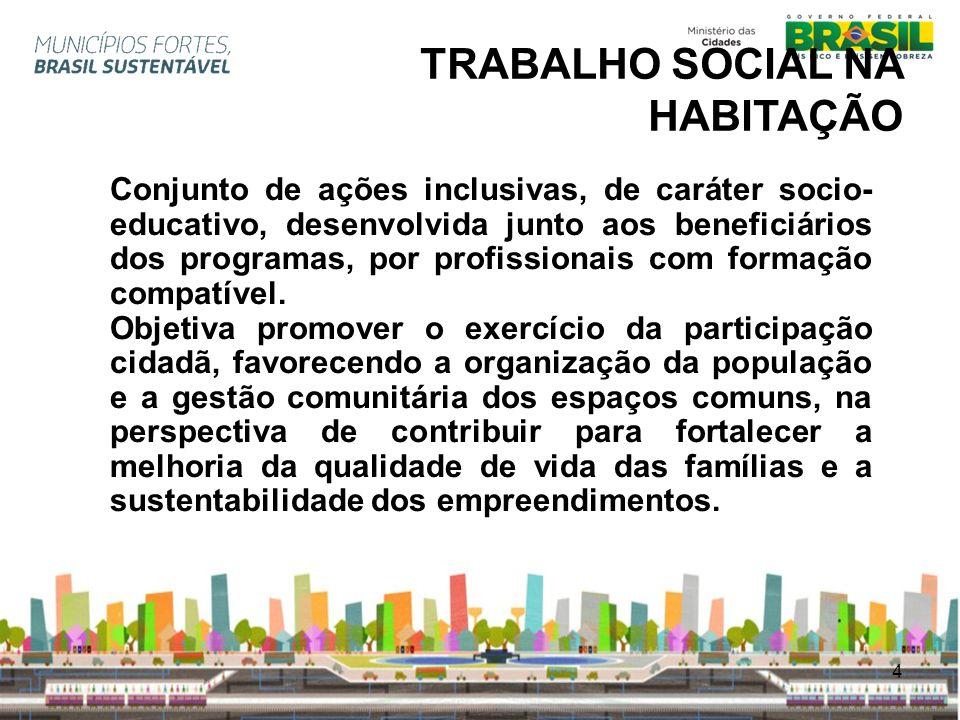 TRABALHO SOCIAL NA HABITAÇÃO