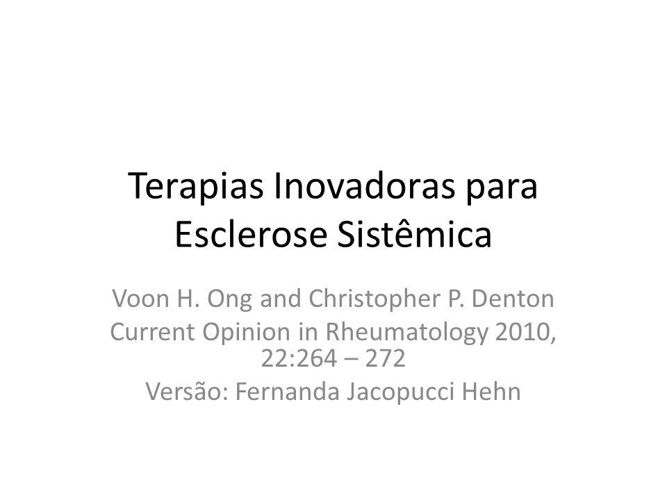 Terapias Inovadoras para Esclerose Sistêmica