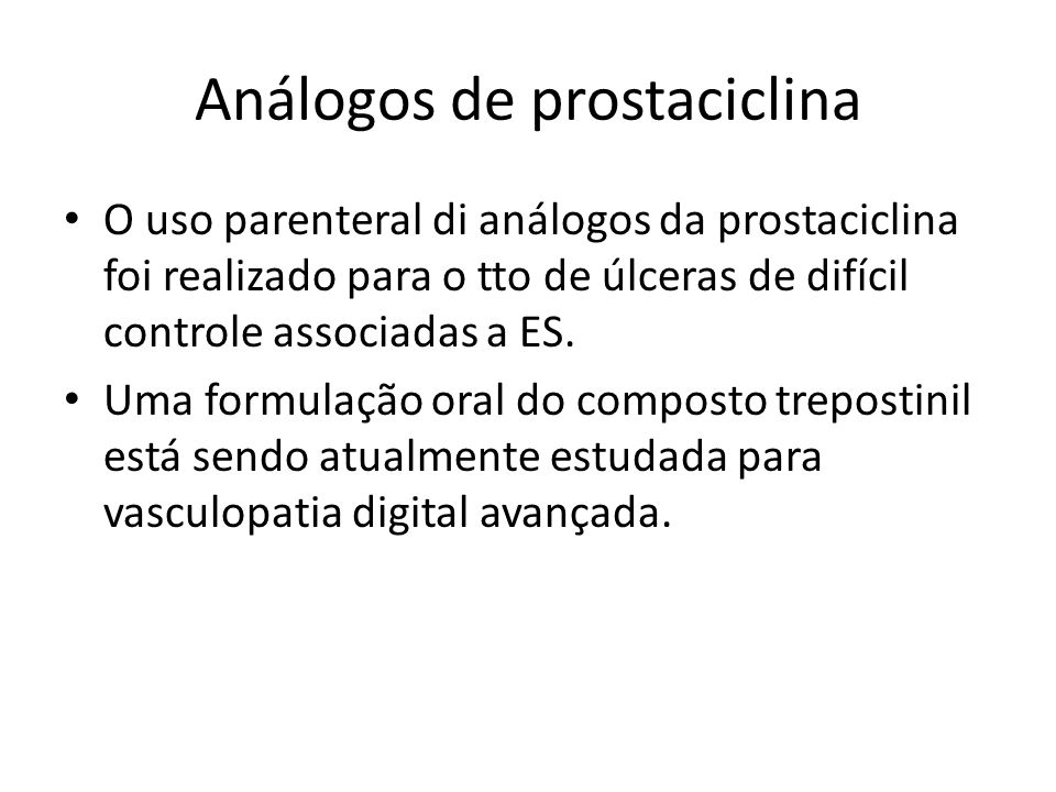 Análogos de prostaciclina
