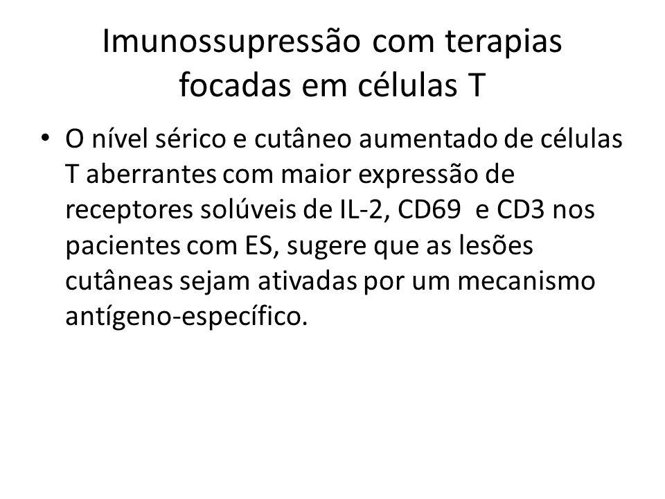 Imunossupressão com terapias focadas em células T