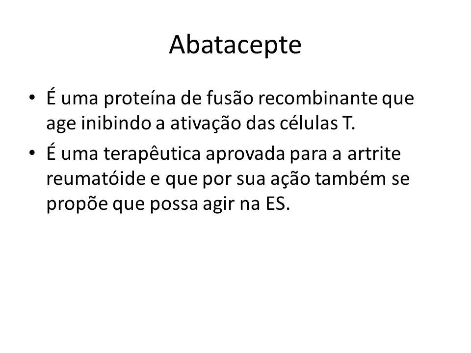 Abatacepte É uma proteína de fusão recombinante que age inibindo a ativação das células T.