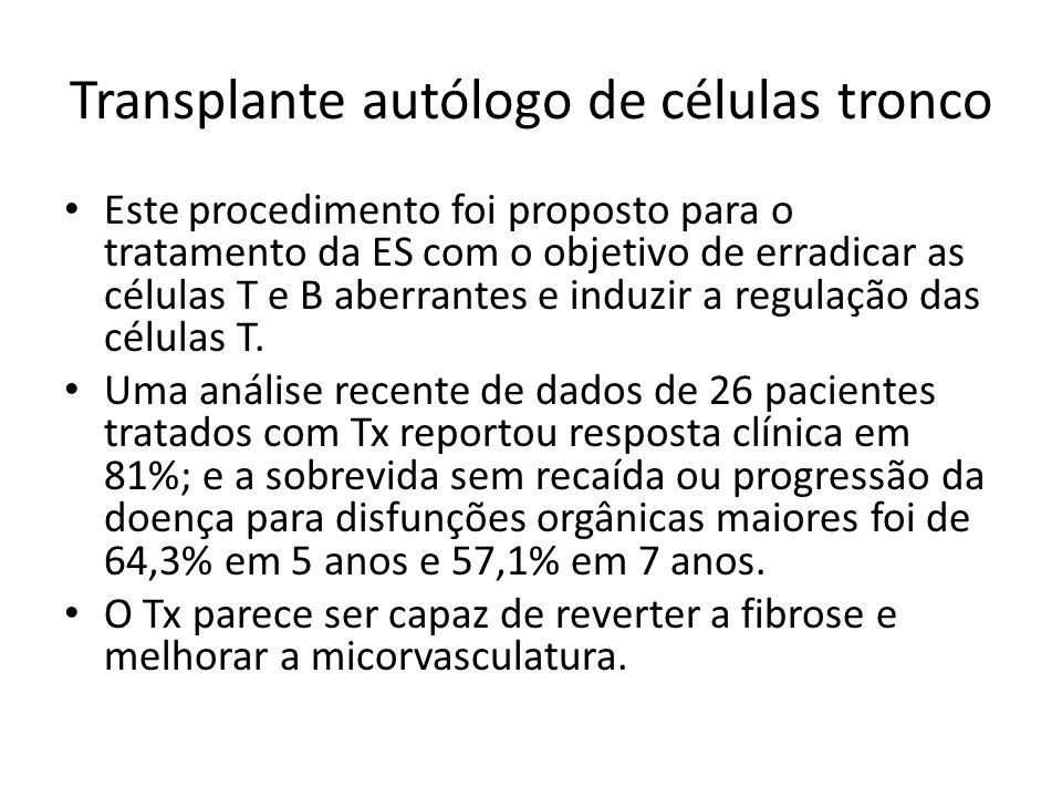 Transplante autólogo de células tronco