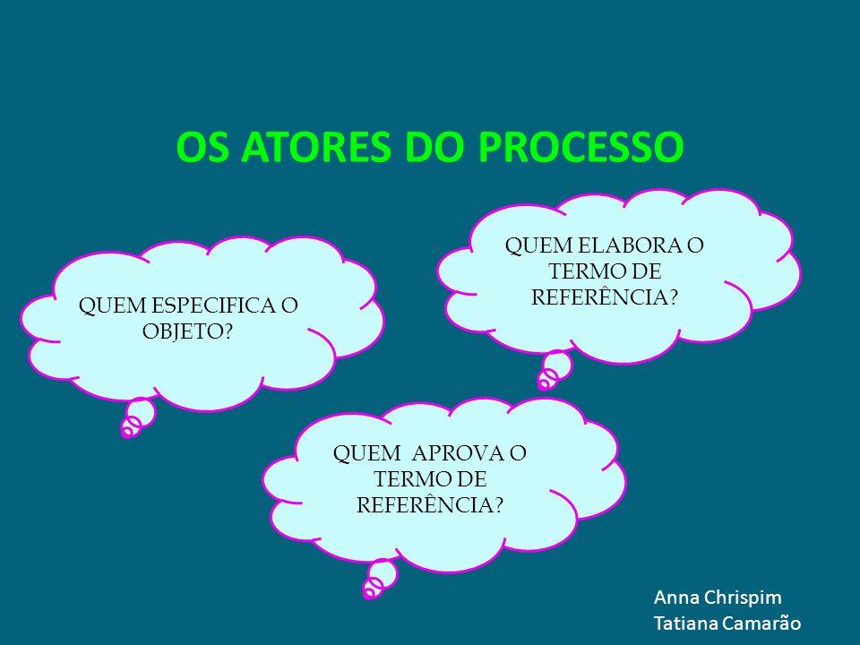 OS ATORES DO PROCESSO QUEM ELABORA O TERMO DE REFERÊNCIA