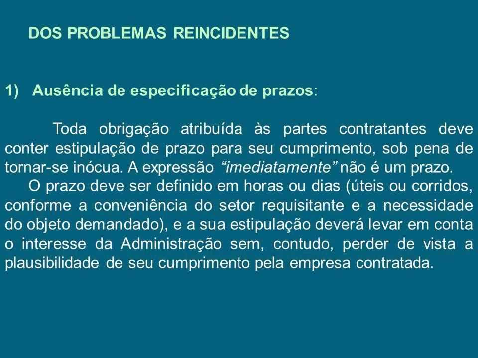 DOS PROBLEMAS REINCIDENTES