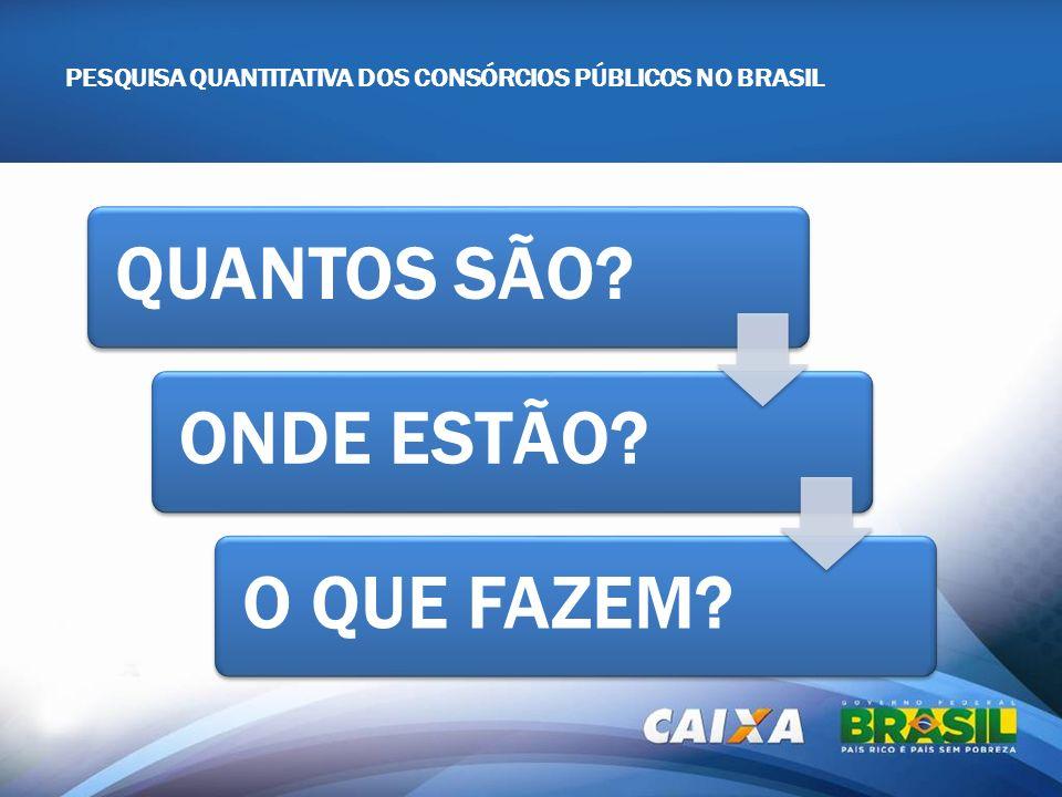 PESQUISA QUANTITATIVA DOS CONSÓRCIOS PÚBLICOS NO BRASIL