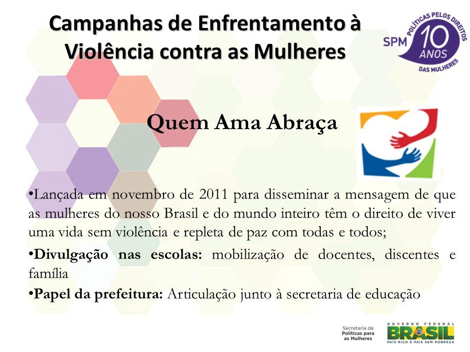 Campanhas de Enfrentamento à Violência contra as Mulheres