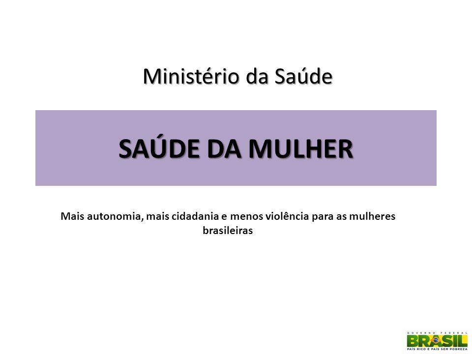 SAÚDE DA MULHER Ministério da Saúde