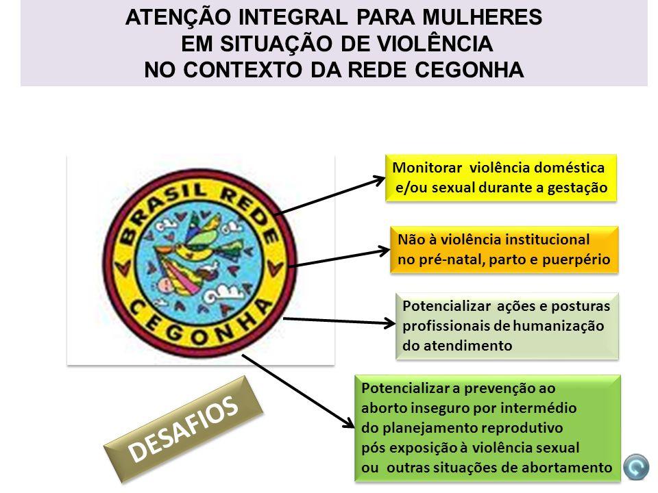 DESAFIOS ATENÇÃO INTEGRAL PARA MULHERES EM SITUAÇÃO DE VIOLÊNCIA