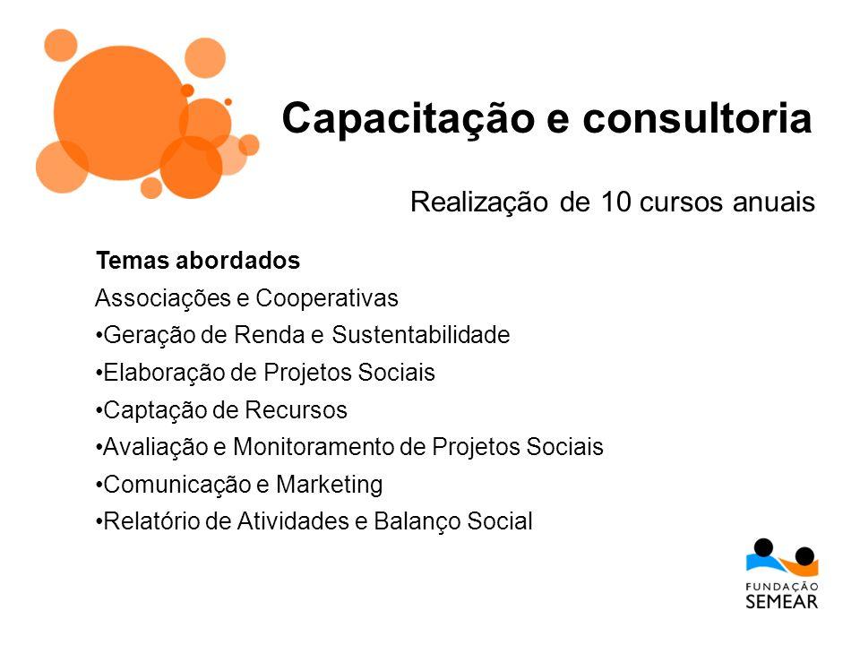 Capacitação e consultoria