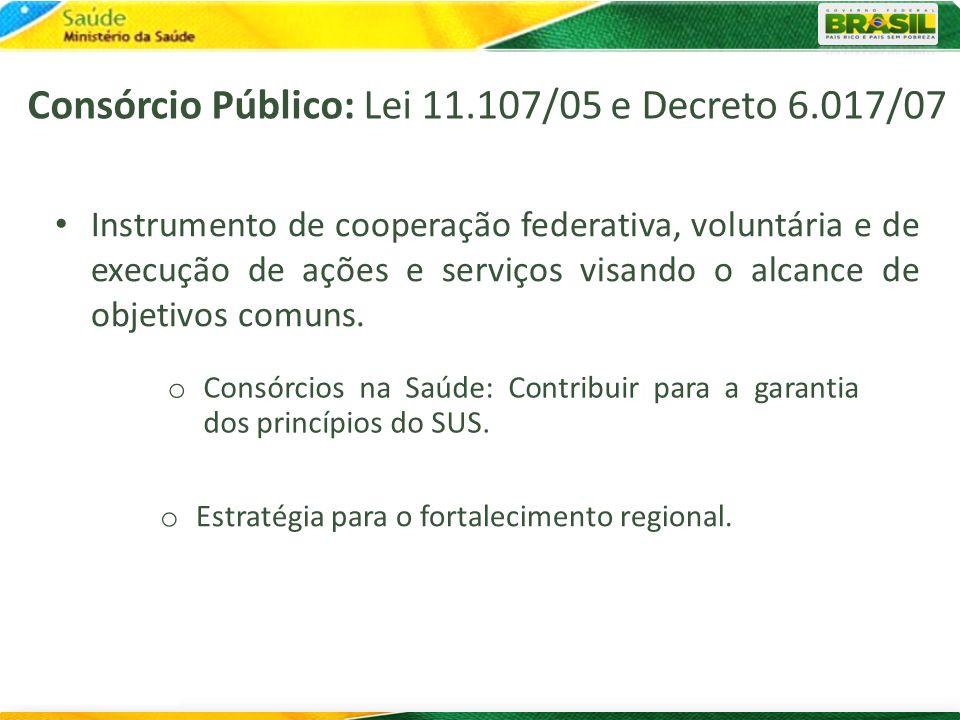 Consórcio Público: Lei 11.107/05 e Decreto 6.017/07