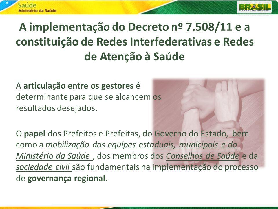 A implementação do Decreto nº 7