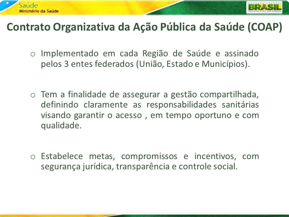 Contrato Organizativa da Ação Pública da Saúde (COAP)