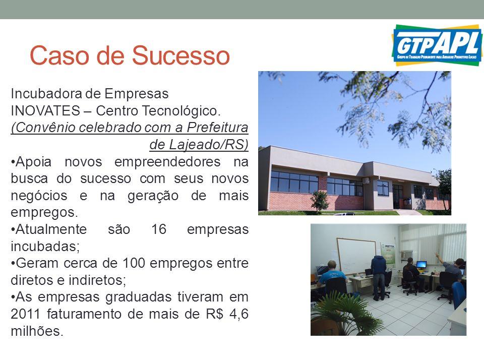 Caso de Sucesso Incubadora de Empresas INOVATES – Centro Tecnológico.
