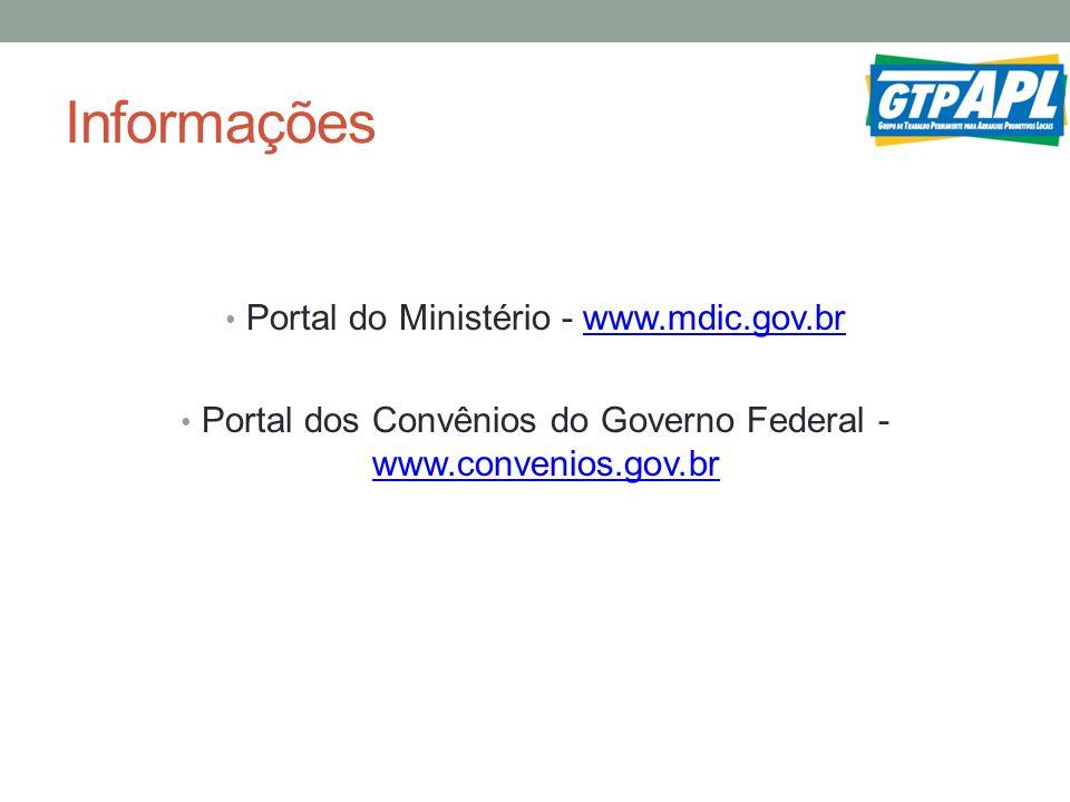 Informações Portal do Ministério - www.mdic.gov.br