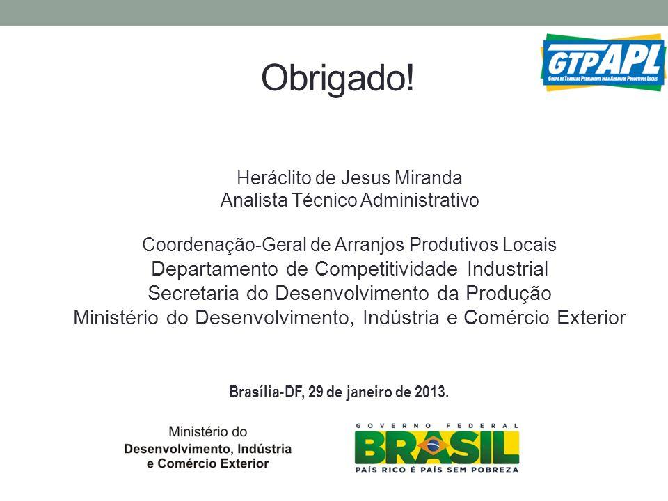 Brasília-DF, 29 de janeiro de 2013.