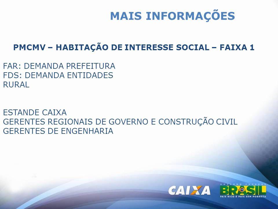 PMCMV – HABITAÇÃO DE INTERESSE SOCIAL – FAIXA 1