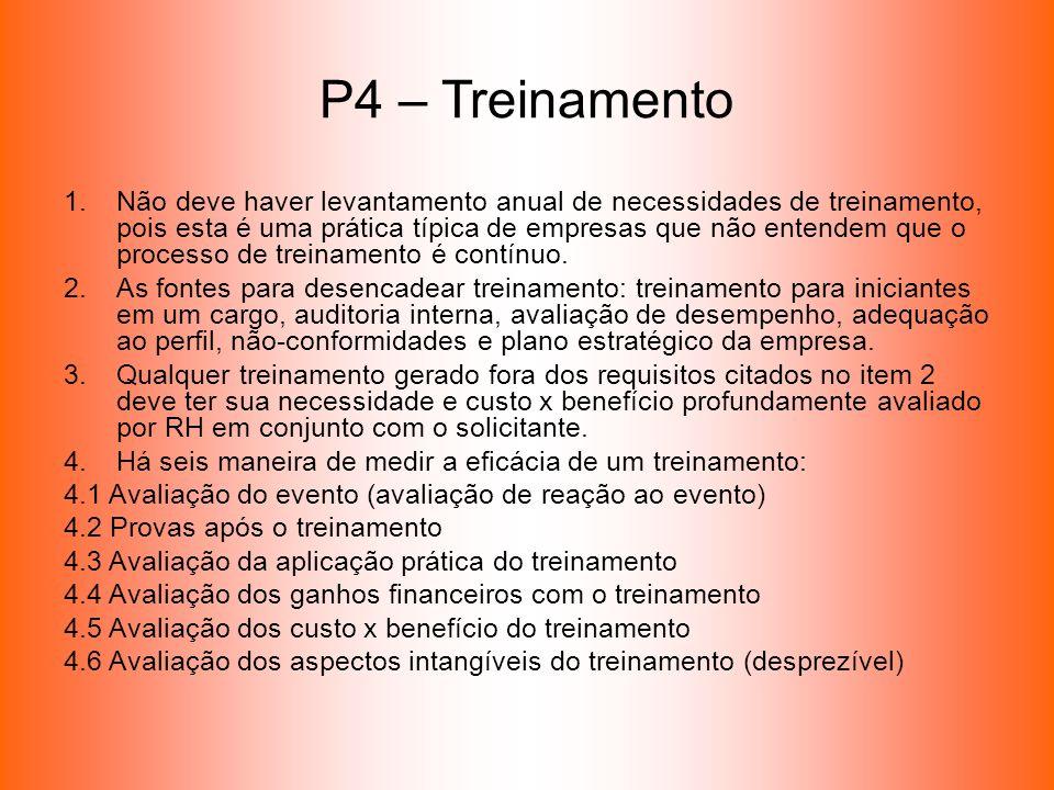 P4 – Treinamento