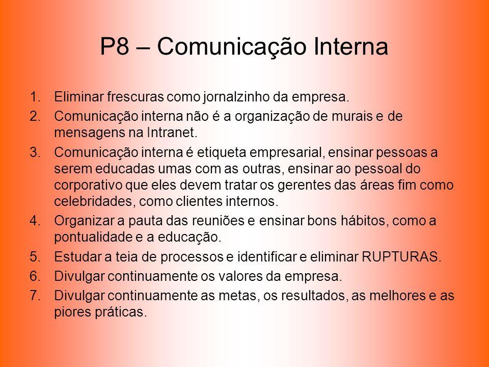 P8 – Comunicação Interna