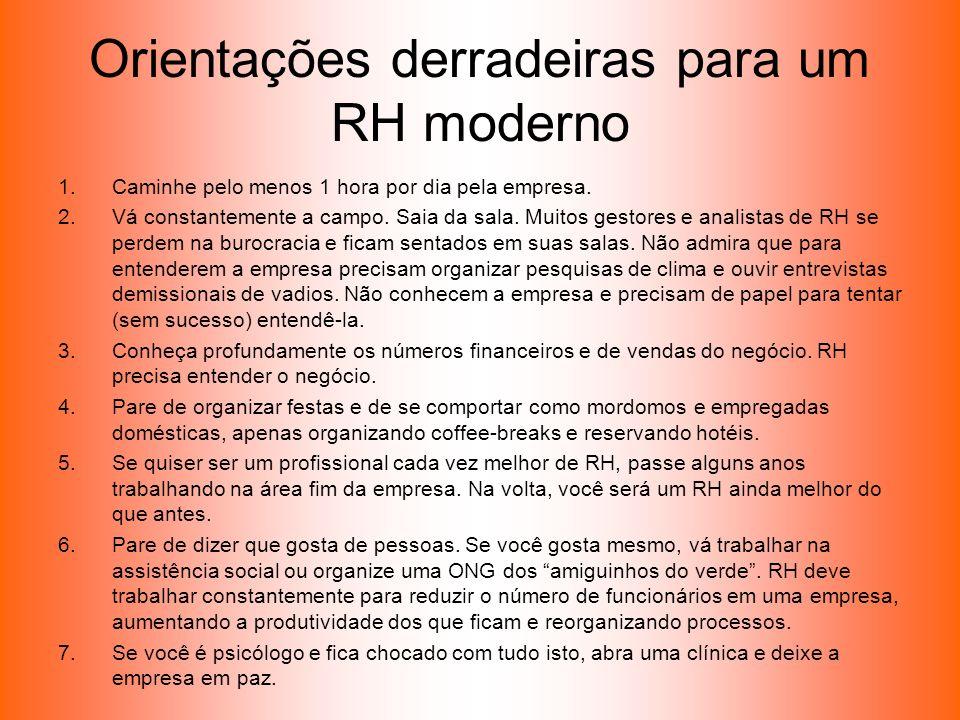 Orientações derradeiras para um RH moderno