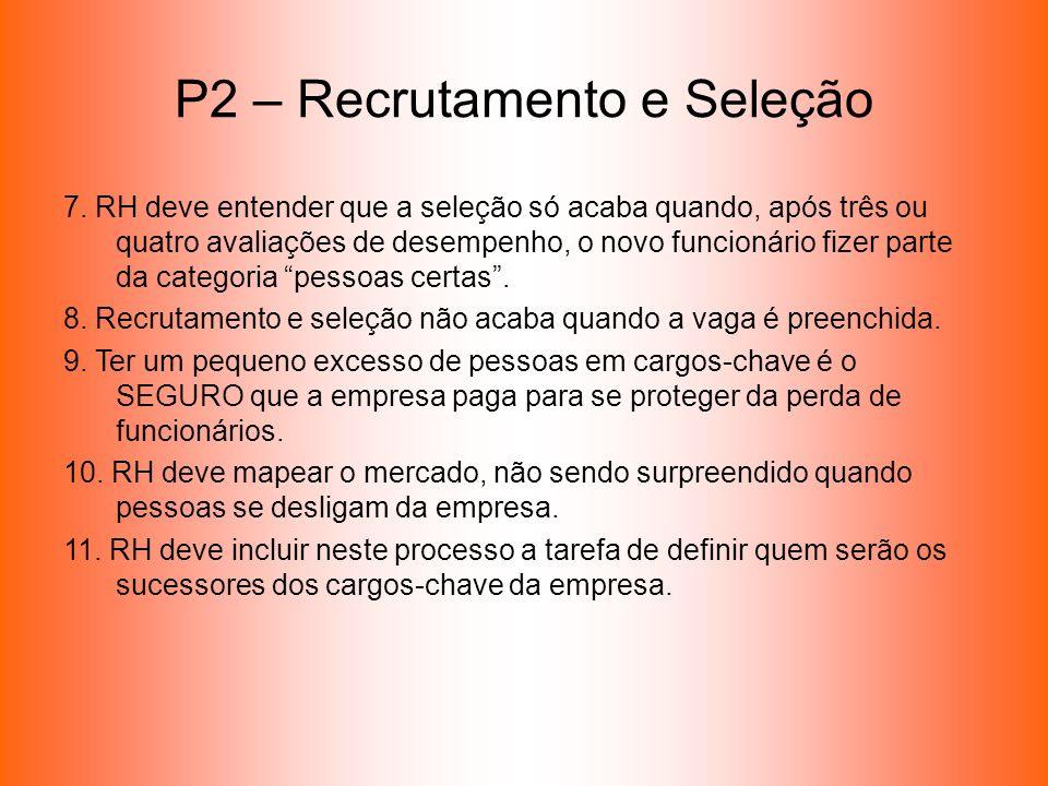 P2 – Recrutamento e Seleção