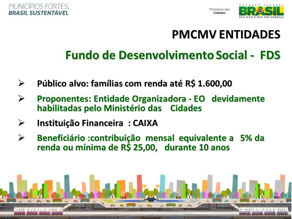 PMCMV ENTIDADES Fundo de Desenvolvimento Social - FDS