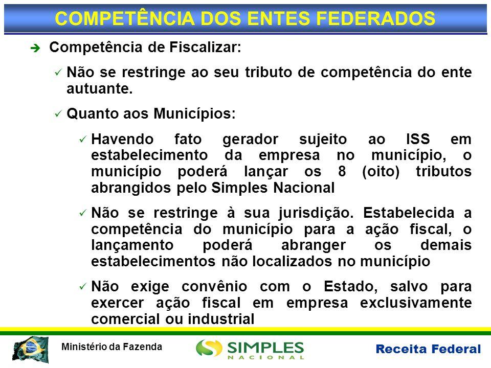 COMPETÊNCIA DOS ENTES FEDERADOS