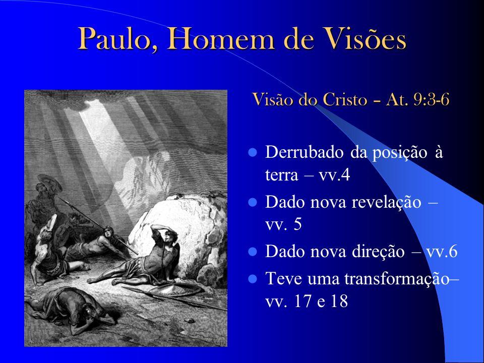 Paulo, Homem de Visões Visão do Cristo – At. 9:3-6