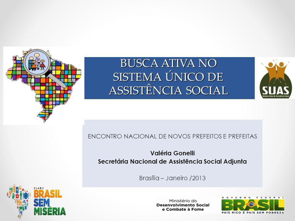 BUSCA ATIVA NO SISTEMA ÚNICO DE ASSISTÊNCIA SOCIAL