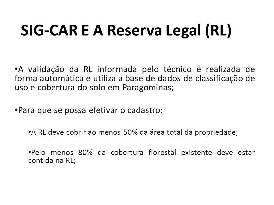 SIG-CAR E A Reserva Legal (RL)