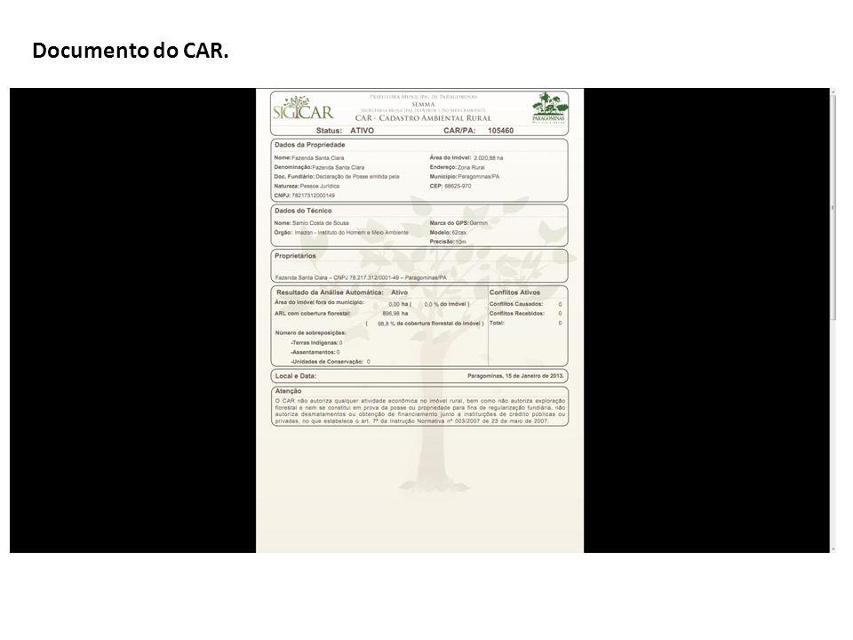 Documento do CAR.