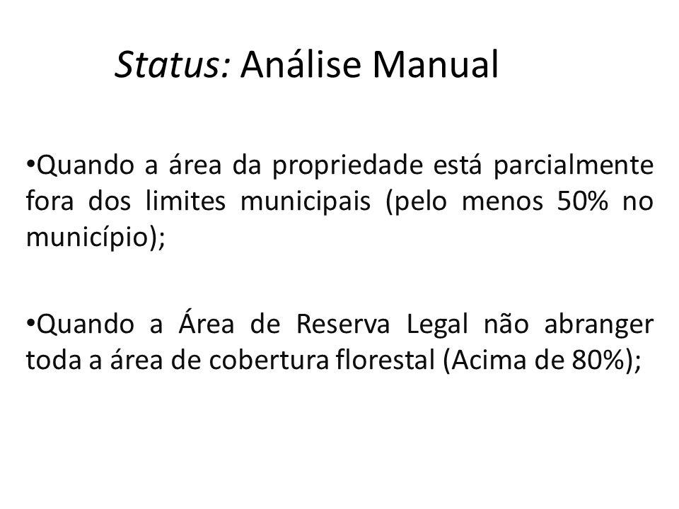 Status: Análise Manual