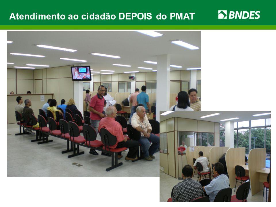 Atendimento ao cidadão DEPOIS do PMAT