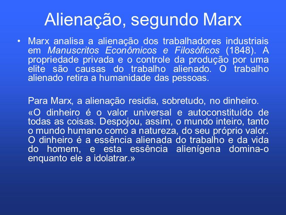 Alienação, segundo Marx