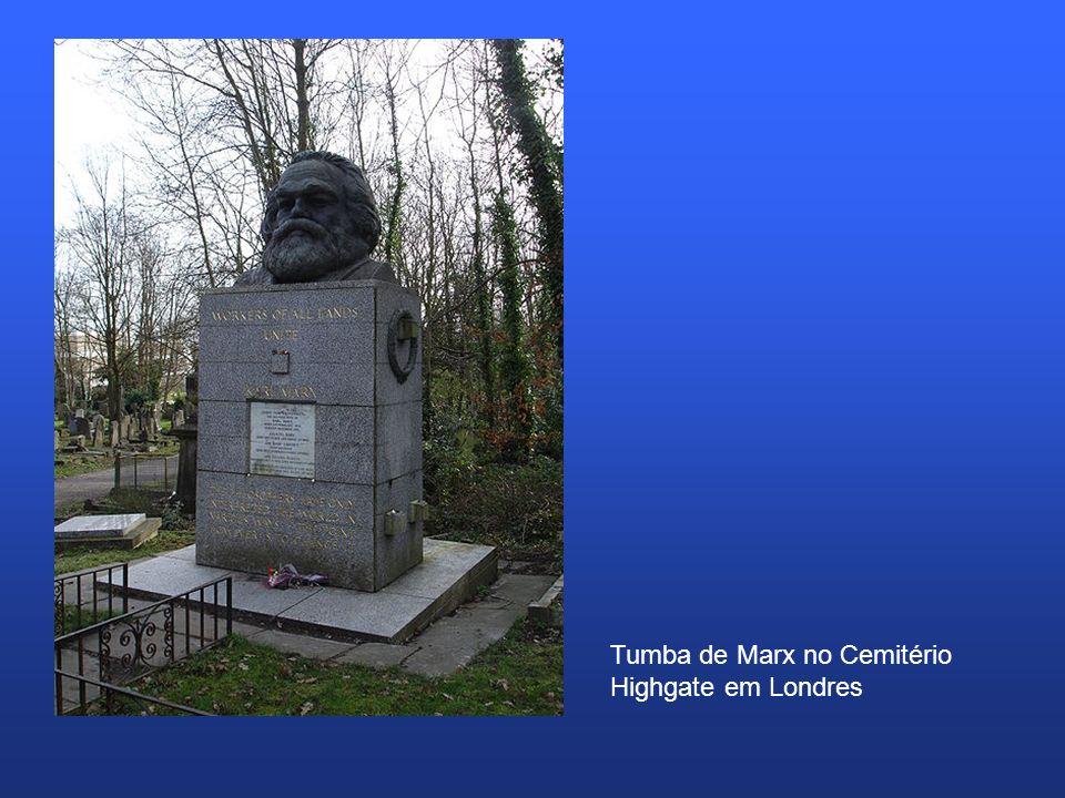 Tumba de Marx no Cemitério Highgate em Londres
