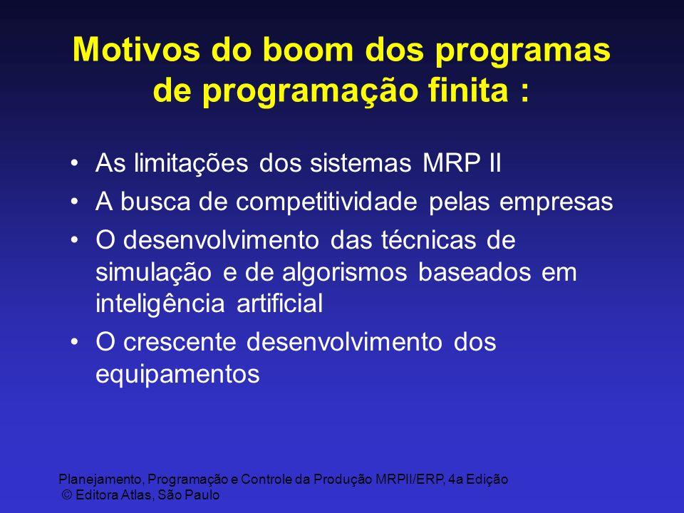 Motivos do boom dos programas de programação finita :