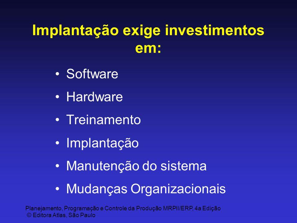 Implantação exige investimentos em: