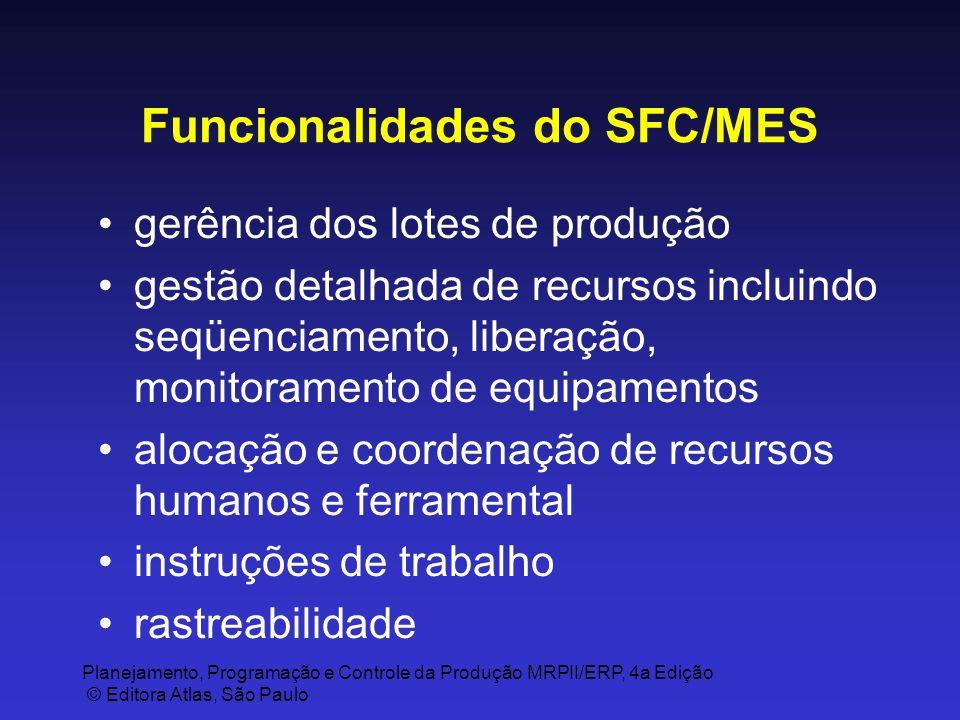 Funcionalidades do SFC/MES