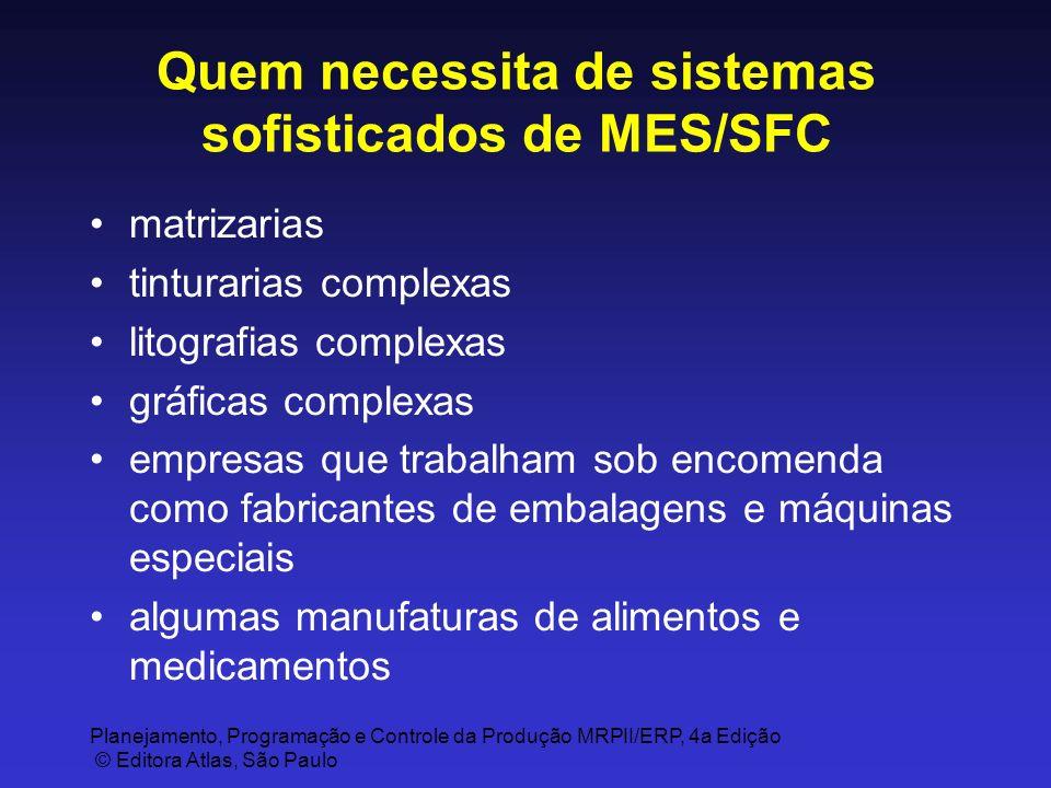 Quem necessita de sistemas sofisticados de MES/SFC